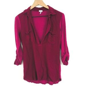 Splendid V-Neck Rayon Popover Top